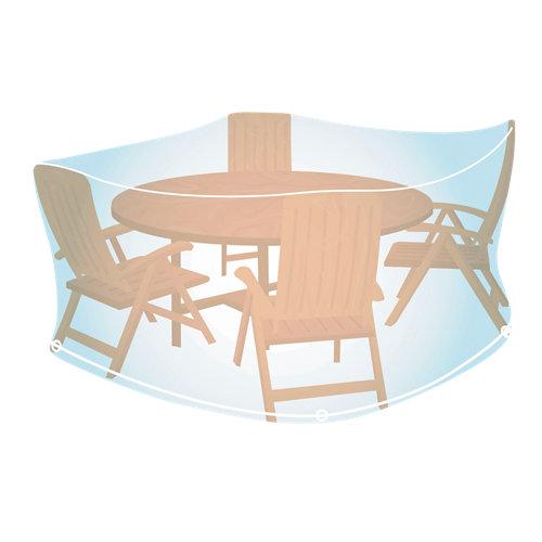 Funda de protección para mesa redonda y sillas de pvc 150x150x90 cm