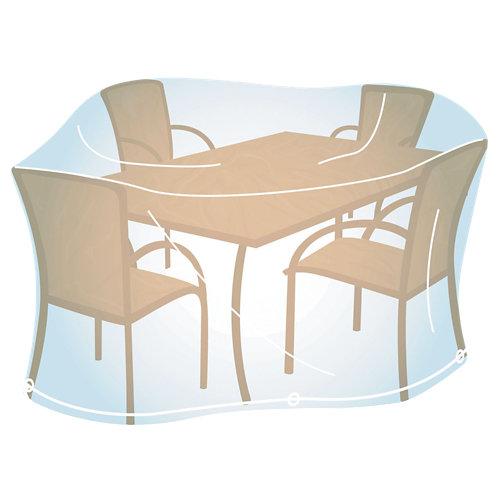 Funda de protección para mesa rectangular y sillas de pvc 170x150x90 cm