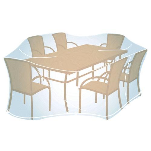 Funda de protección para mesa recta./ovalada y sillas de pvc 240x165x90 cm