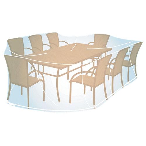 Funda de protección para mesa recta./ovalada y sillas de pvc 280x170x90cm
