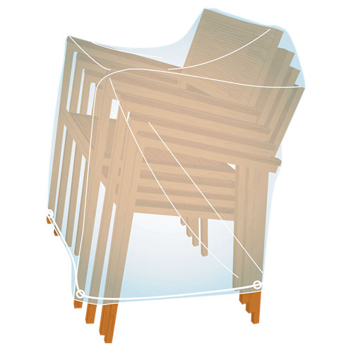Funda de protección para 4 sillas apiladas de pvc 105x60x60cm