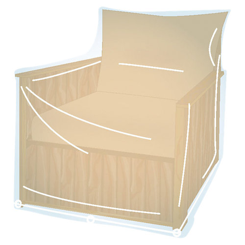 Funda de protección para sillón de una plaza de pvc 100x70x90 cm