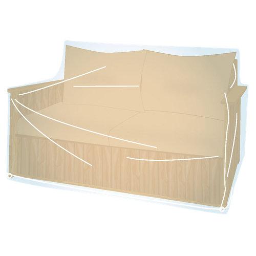 Funda de protección para sillón de dos plazas de pvc 220x70x90cm
