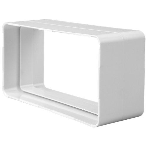 Empalme rectangular 100 mm 110x55