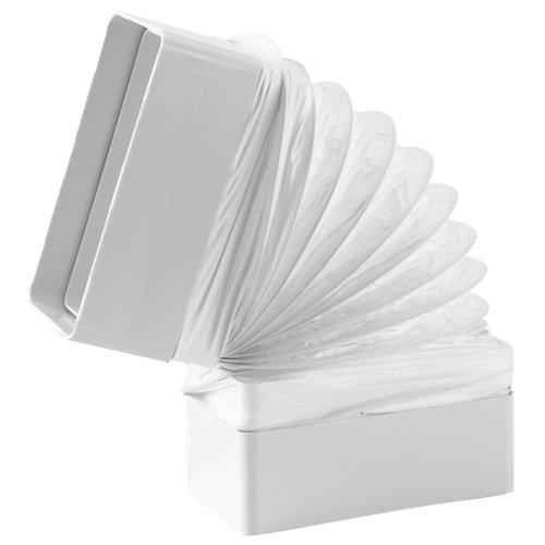 Codo flexible rectangular 110x55