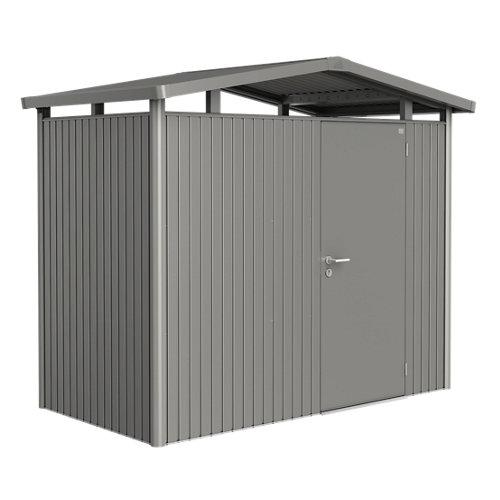 Caseta de metal panorama gris de 273x227x158 cm y 4.31 m2