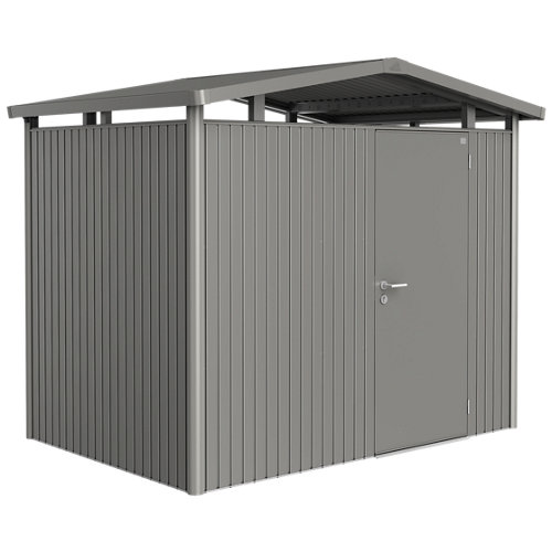 Caseta de metal panorama gris de 273x227x198 cm y 5.4 m2