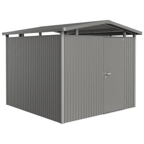 Caseta de metal panorama gris de 273x227x278 cm y 7.59 m2