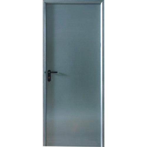 Puerta metálica derecha acero galvanizado/acero galvanizado de 200x79 cm