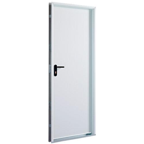Puerta de servicio derecha blanco/blanco de 200x79 cm