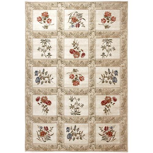 Alfombra multicolor algodón y poliéster florencia 831 60 x 90cm
