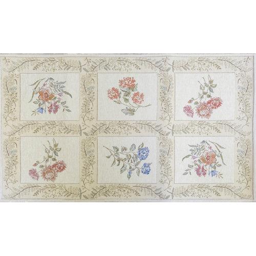 Alfombra multicolor algodón y poliéster florencia 831 70 x 120cm