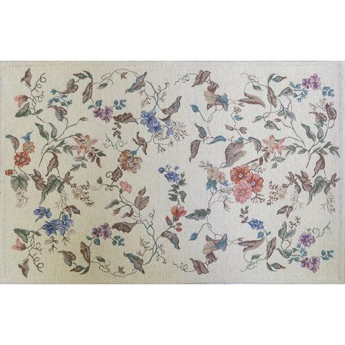 Alfombra multicolor algodón y poliéster florencia 855 60 x 90cm