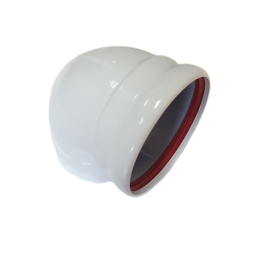 Curva de aluminio de 125 de diámetro