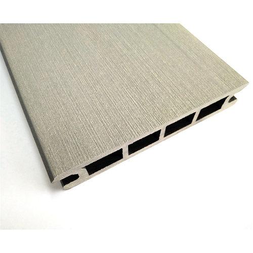 Lama de fachada composite gris ceniza 14x230 cm y 22.5 mm