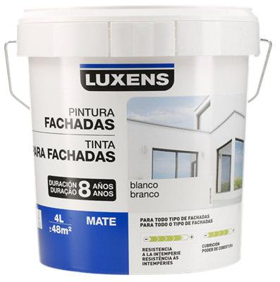 Pintura para fachadas LUXENS 8 Años blanco mate 4L