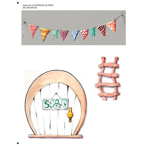 Adhesivo mural infantil puerta del sr. pérez