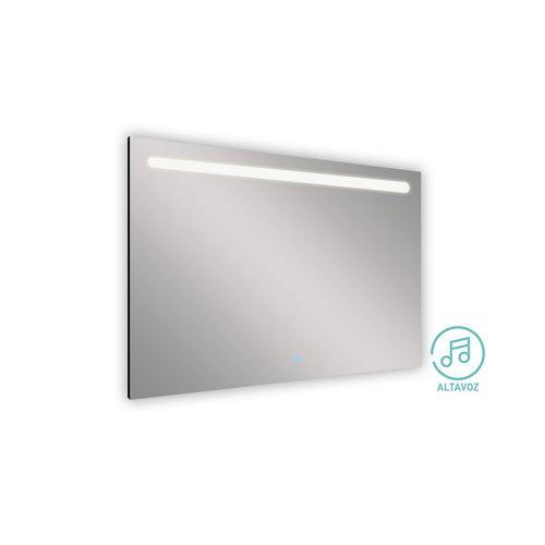 Espejo de baño con luz led push 125 x 80 cm