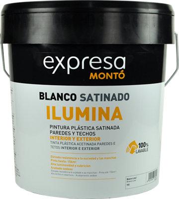 Pintura interior Expresa Ilumina blanco satinado 12L