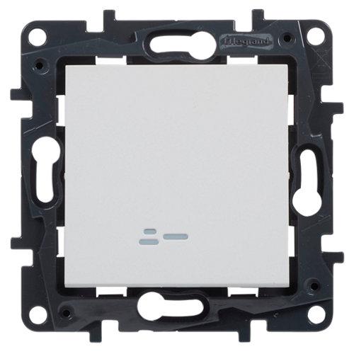 Interruptor con led legrand niloé step blanco