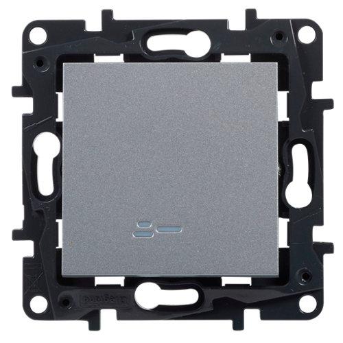 Interruptor con led legrand niloé step aluminio