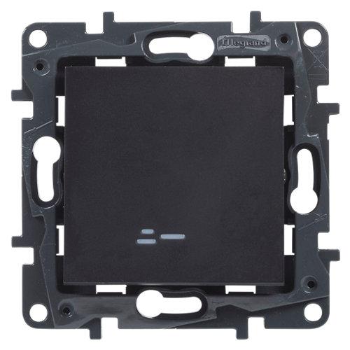 Interruptor con led legrand niloé step negro