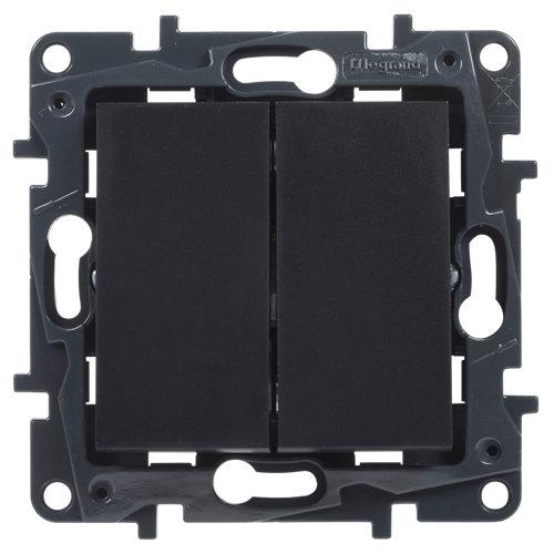 Interruptor doble legrand niloé step negro