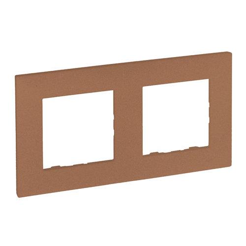 Marco doble legrand niloé step cobre