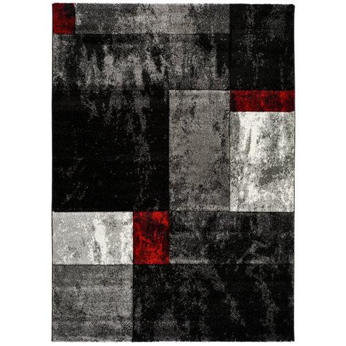 Alfombra gris polipropileno skat/669//gris 200 x 290cm
