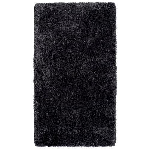 Alfombra negra poliéster shanghai antracita 60 x 110cm