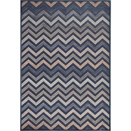 Alfombra azul viscosa provence 140 x 200cm