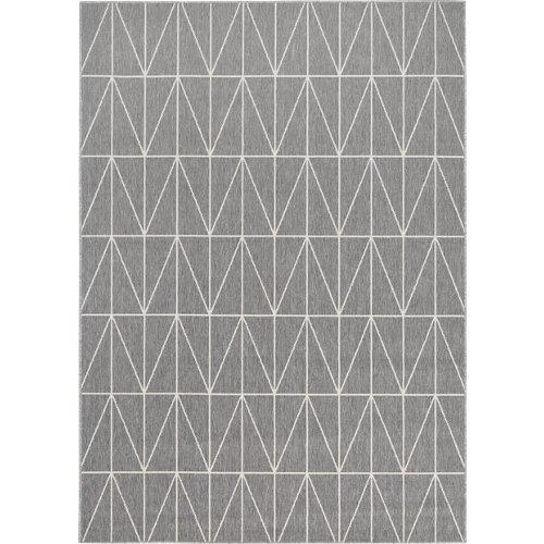 Alfombra gris polipropileno broadway 160 x 230cm