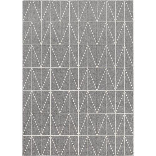 Alfombra gris polipropileno broadway 200 x 290cm