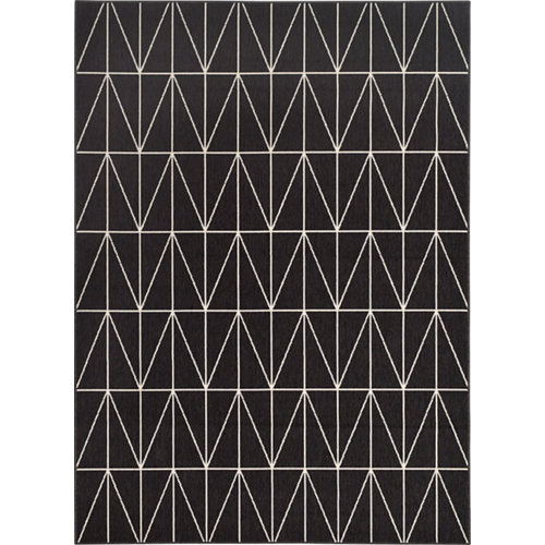 Alfombra negra polipropileno broadway 160 x 230cm