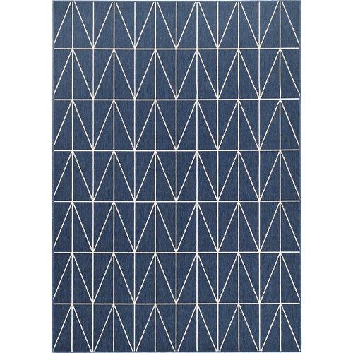 Alfombra azul polipropileno broadway 140 x 200cm