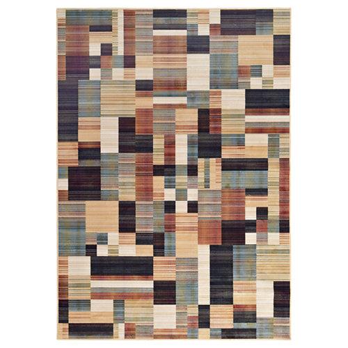 Alfombra multicolor viscosa royal gabeh 160 x 230cm