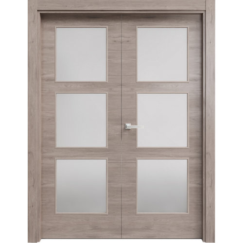 puerta oslo gris de apertura izquierda de 62.5 cm