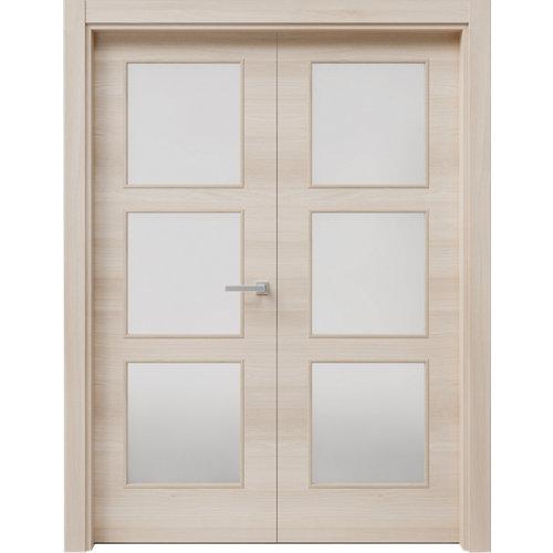 puerta oslo acacia de apertura izquierda de 62.5 cm
