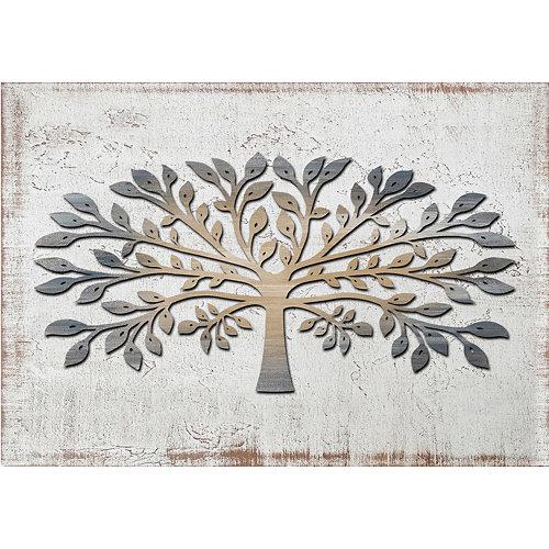Tapa contador árbol láser crema 35 x 50 cm