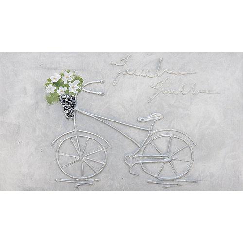 Cuadro artístico para tapa contador 27 x 47 cm bicicleta