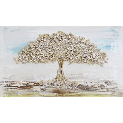 Cuadro artístico para tapa contador 27 x 47 cm árbol