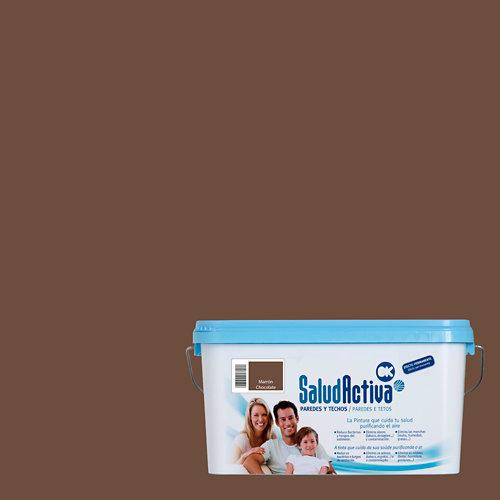 Pintura interior salud activa 4l marrón chocolate
