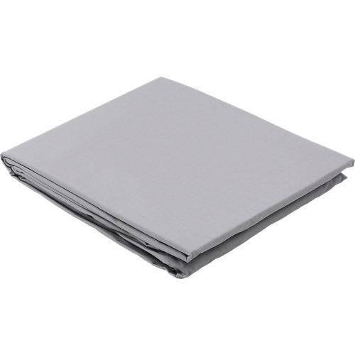Sábana bajera algodón gris / plata para cama 90 cm