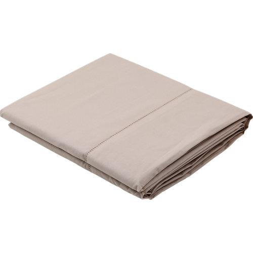 Sábana encimera algodón beige para cama 150 / 160 cm