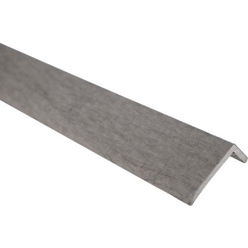 Cubrecanto en l de aluminio gris de 2 m