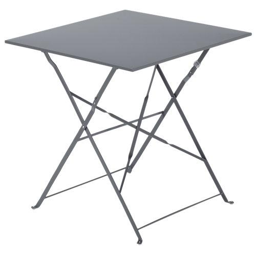 Mesa de jardín de acero flora gris de 70x71x69 cm