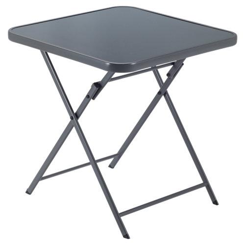 Mesa de jardín de acero emys gris de 70x72x70 cm