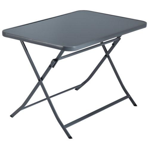 Mesa de jardín de acero emys gris de 70x72x110 cm