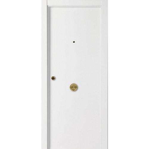 Puerta de entrada blindada lisa derecha blanco/blanco de 85.7x205 cm