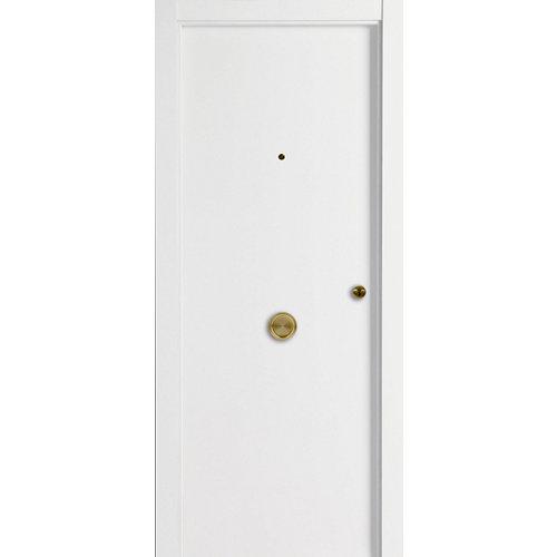 Puerta de entrada blindada lisa blanco/blanco de 85.7x205 cm